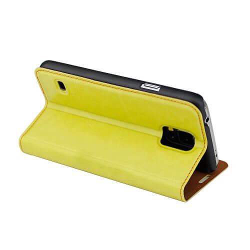 aLLreli Samsung Galaxy S5 Smartphone Case Leather Flip Cover Green