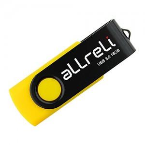 aLLreli-USB-30-Flash-Drive-Memory-Stick-Hi-Speed-Swivel-Design-16GB-Black-Yellow-0-0