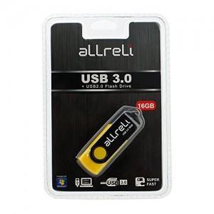 aLLreli-USB-30-Flash-Drive-Memory-Stick-Hi-Speed-Swivel-Design-16GB-Black-Yellow-0-2