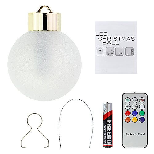 6x battery operated led christmas tree baubles lights multi color color changing christmas ball with remote control batteries included 50 hours of lighting - Remote Control Christmas Tree