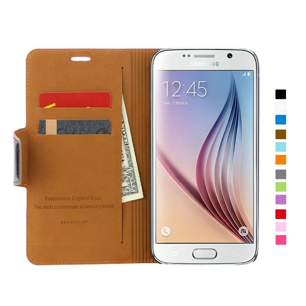 samsung s6 wallet case leather