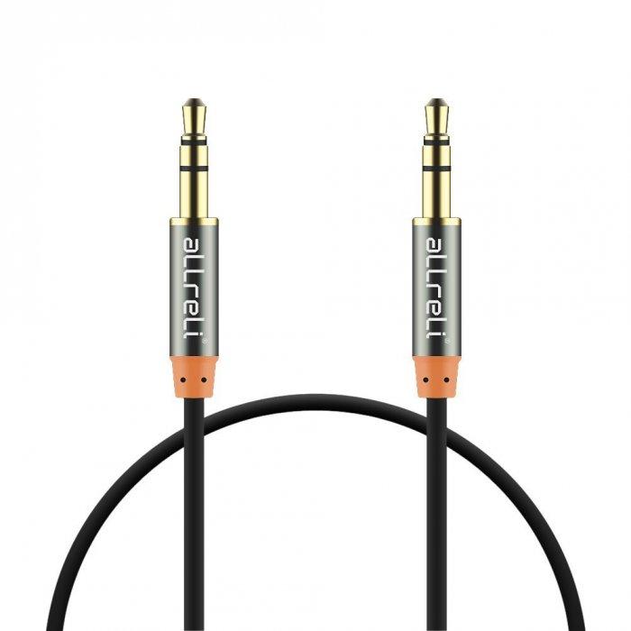 aLLreLi® 3.3 ft Male to Male 3.5mm Audio Cable Black