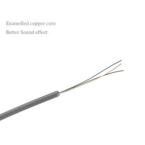 aLLreLi® 3.3 ft Male to Male 3.5mm Audio Cable Gray