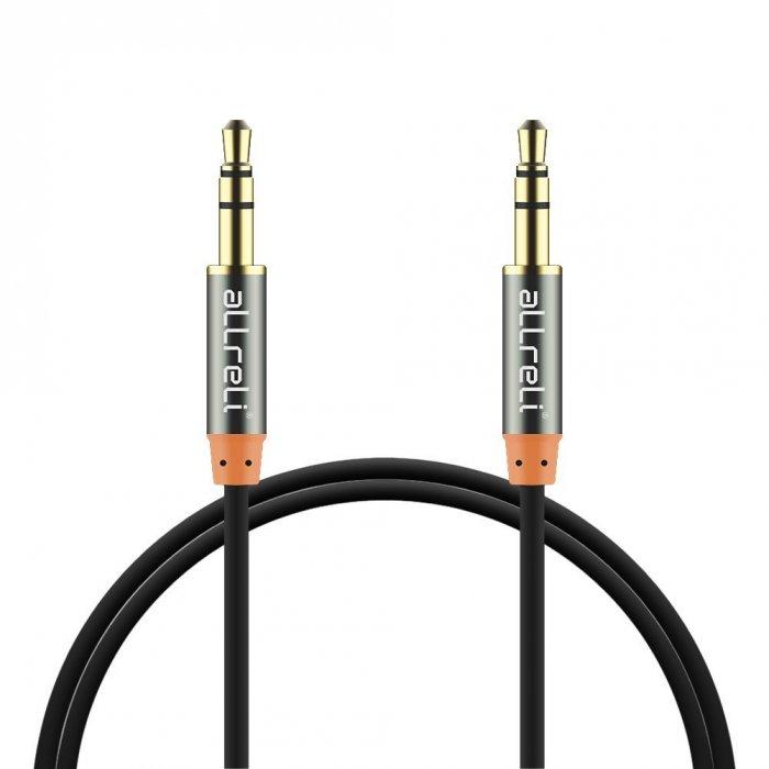 aLLreLi® 6.6ft Male to Male 3.5mm Audio Cable Black