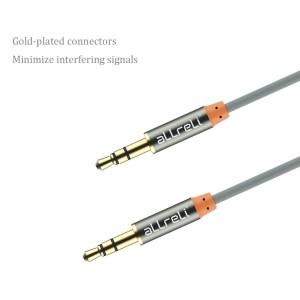 aLLreLi® 6.6ft Male to Male 3.5mm Audio Cable Gray1
