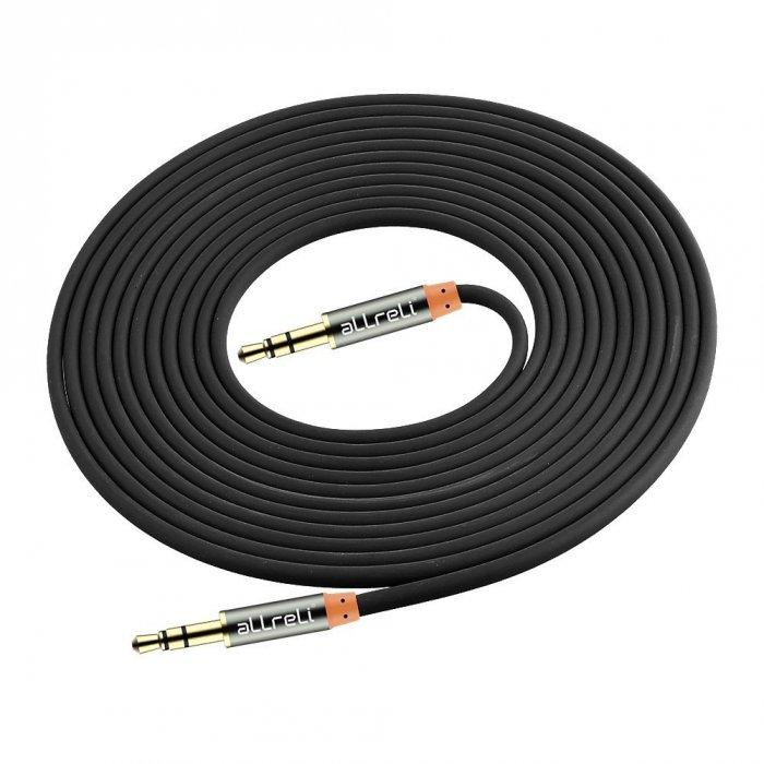 aLLreLi® 9.8ft Male to Male 3.5mm Audio Cable Black4