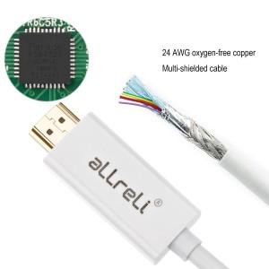 aLLreLi 6 Feet HD 4Kx2K Mini DisplayPort to HDMI Cable3
