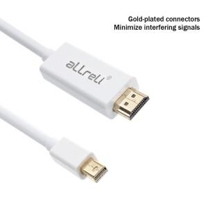 aLLreLi 6 Feet HD 4Kx2K Mini DisplayPort to HDMI Cable4