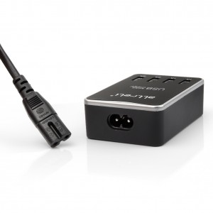 4 Port Dual Sided USB Charger Black 2