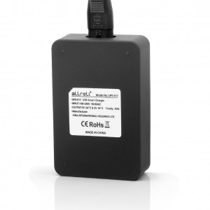 4 Port Dual Sided USB Charger Black 4