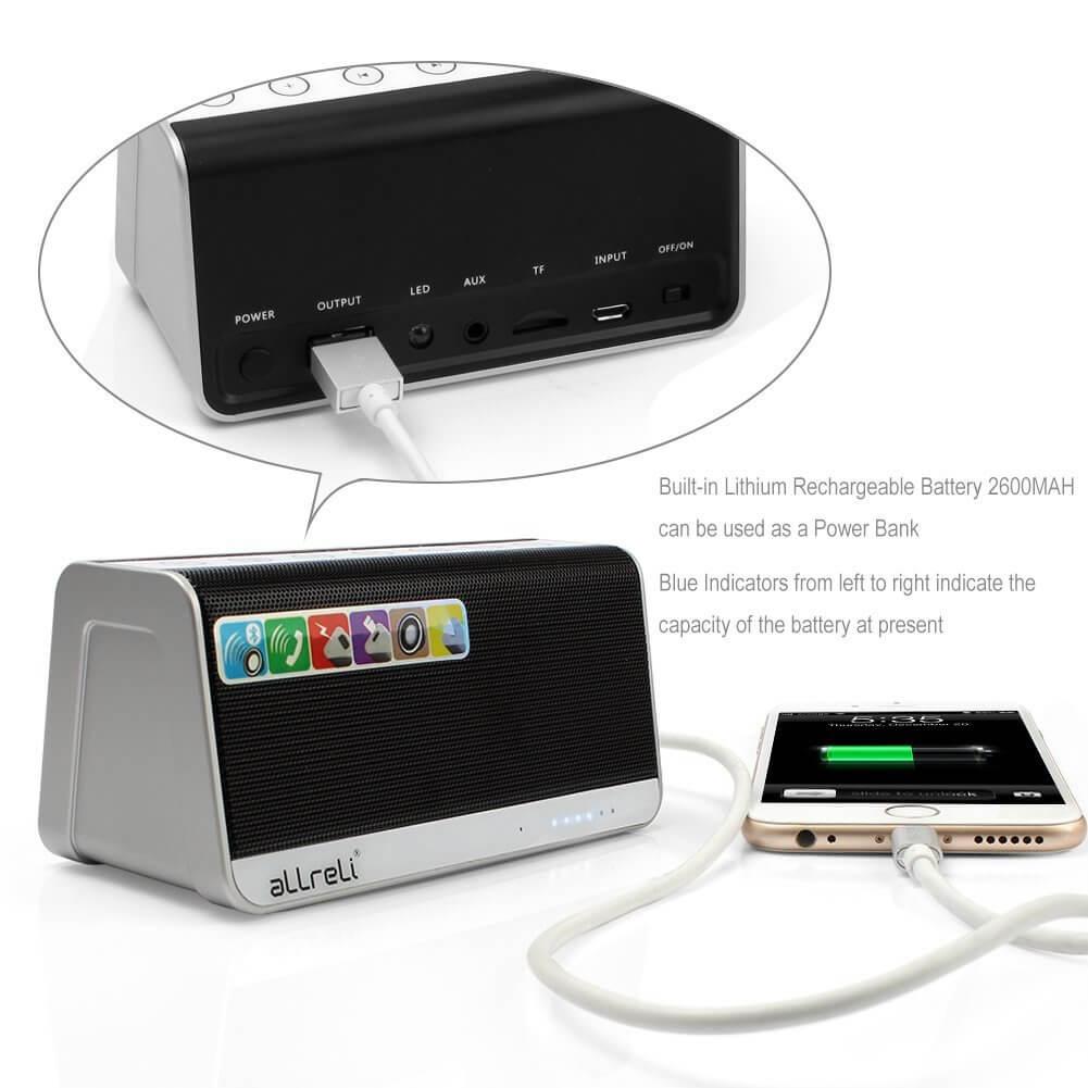aLLreLi Ultra-Portable Bluetooth 4.0 Speaker 5