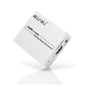 aLLreLi 1080P HDMI to HDMI Splitter Adapter With 3.5mm Audio Cable