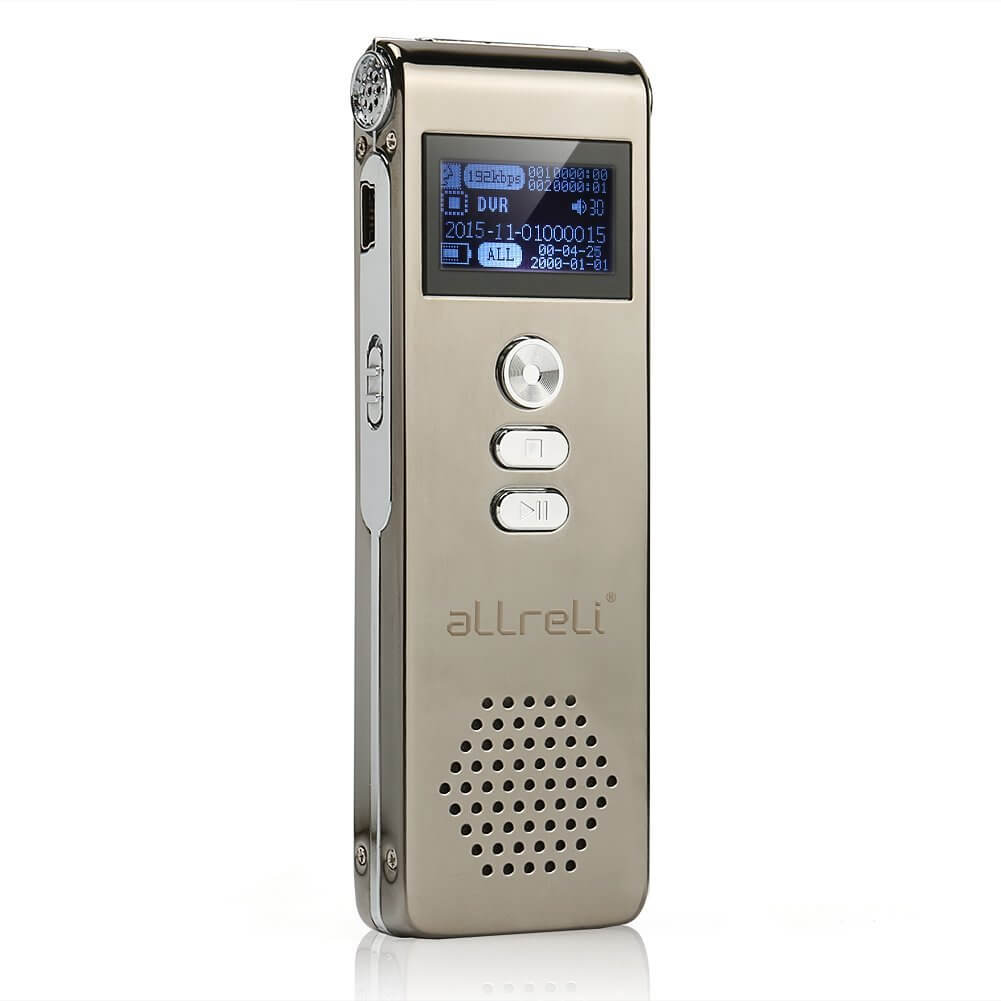 allreli cp0260 digital voice recorder 8g for learning interviews