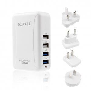 aLLreLi 4 Port USB Wall Charger